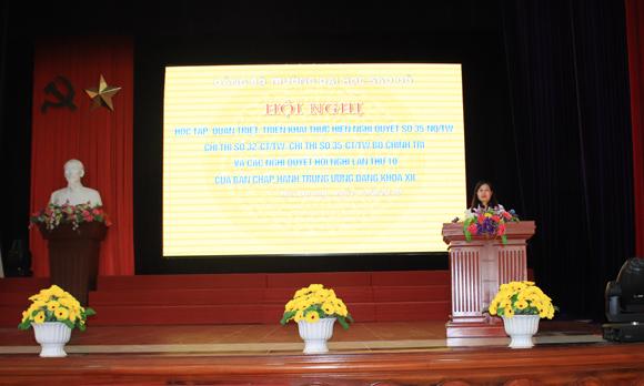 Trường Đại học Sao Đỏ Tổ chức học tập, quán triệt và triển khai thực hiện Nghị quyết số 35-NQ/TW, Chỉ thị số 32, 35 của Bộ Chính trị và các Nghị quyết Hội nghị lần thứ 10, Ban Chấp hành Trung ương Đảng (khóa XII)